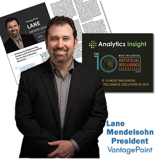 Lane Mendelsohn President of Vantagepoint AI Selected as Top 10 Most Influential AI Executives