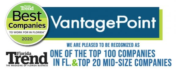 Vantagepoint AI Recognized as Top 100 Best Places to Work in Florida