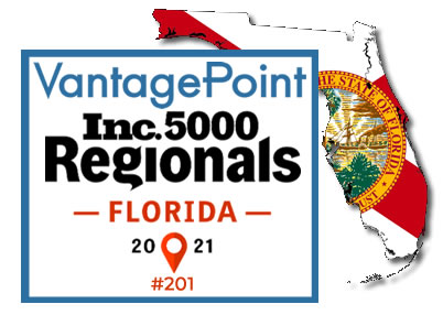 Vantagepoint AI recognized by Inc. Magazine as a top Florida business.