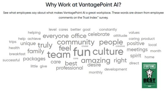 Why people love working at Vantagepoint AI